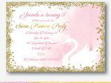 Swan Princess Baby Shower Invitations Swan Princess Party Invitation Personalised Digital File