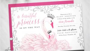 Swan themed Baby Shower Invitations Baby Shower Invitation Princess Swan theme Digital File