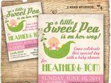 Sweet Pea Baby Shower Invitations Little Sweet Pea Baby Shower Invitation Girl Baby Shower