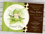 Sweet Pea Baby Shower Invitations Sweet Pea Baby Shower Invitation Boy or Girl by