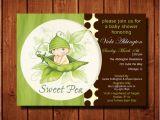 Sweet Pea Baby Shower Invitations Sweet Pea Baby Shower Invitation Boy or Girl Digital File