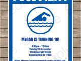 Swimming Party Invitation Template Pool Party Invitations Birthday Party Template