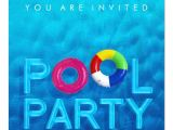 Swimming Party Invitation Template Summer Swimming Pool Party Invitation Zazzle Com