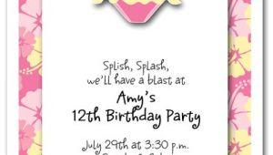 Swimsuit Party Invitations Pink Bikini Invitations Beach Invitations Pool Invitations