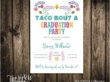 Taco Bout A Party Invitation Taco Bout A Graduation Party Invitation Fiesta Collection