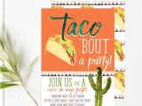 Taco Bout A Party Invitation Taco Party Fiesta Invitations Cinco De Mayo Invitations
