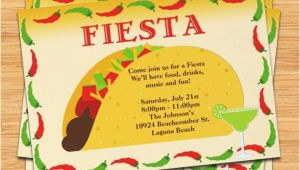 Taco Party Invitation Template Free Fiesta Taco Party Invitation
