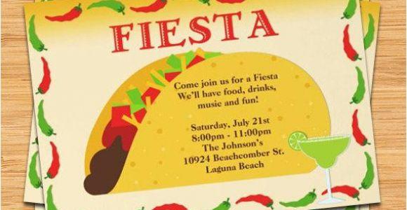 Taco Party Invitation Template Free Fiesta Taco Party Invitation