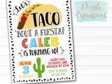 Taco Party Invitation Template Printable Taco Party Birthday Invitation Fiesta Ticket