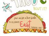 Taco Party Invitation Template Taco Invite East Blured In 2019 Birthday Invitations