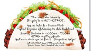 Taco Party Invitation Wording Taco Party Invitations Mexican Food Cinco De Mayo Invite