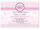 Target Invitations Baby Shower Template Printable Princess Baby Shower Invitations