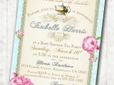 Tea Party Baby Shower Invites Baby Shower Invitation Diy Tea Party Baby Shower Invitations