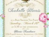 Tea Party Baby Shower Invites Tea Party Baby Shower Tea Party Invitation Floral by