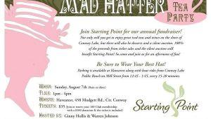 Tea Party Fundraiser Invitation Mad Hatter Tea Party Invitation Charity Fundraiser Mad
