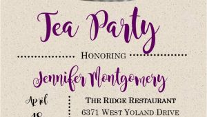 Tea Party Invitation Ideas for Adults Tea Party Invitations for Adults and Children New