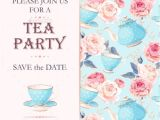 Tea Party Invitation Template 9 Tea Party Invitation Templates Free Download