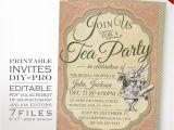 Tea Party Invitation Template Alice In Wonderland Tea Party Invitation Template Vintage