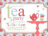 Tea Party Invitation Template Free Free afternoon Tea Invitation Template