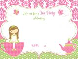 Tea Party Invitation Template Free Free Printable Tea Party Invitation Template for Girl