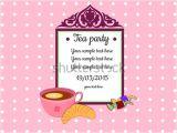 Tea Party Invitation Template Word 41 Tea Party Invitation Templates Psd Ai Free