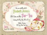 Tea Party Invitation Template Word Items Similar to Cute Vintage Tea Party Invitation Digital