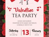 Tea Party Invitation Template Word Valentine Tea Party Invitation Design Template In Word