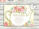Tea Party themed Bridal Shower Invitations Garden Tea Party Bridal Shower Invitation High Tea