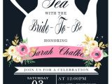 Tea Party themed Bridal Shower Invitations Tea Party Bridal Shower Invitation