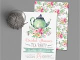 Tea Party themed Bridal Shower Invitations Tea Party Bridal Shower Invitations Wedding Shower Invite