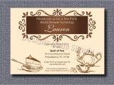 Tea Party themed Bridal Shower Invitations Tea Party themed Bridal Shower Invitation by Designsmadesimple