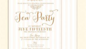 Tea themed Bridal Shower Invitations Bridal Shower Tea Party Invitations