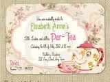 Team Party Invitation Template Items Similar to Cute Vintage Tea Party Invitation Digital