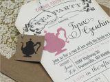 Teapot Bridal Shower Invitations Bridal Shower Tea Party Invitations Vintage Bridal