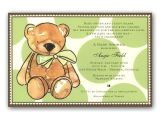 Teddy Bear Baby Shower Invitations Free Brown Teddy Bear Baby Shower Invitations
