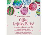Template for Christmas Party Invitation In Office Holiday ornament Office Christmas Party Invitation Poster