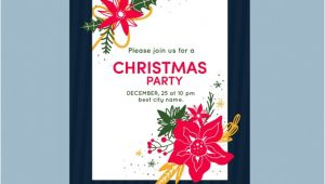 Template Invitation Party Vector Christmas Party Invitation Template Vector Free Download