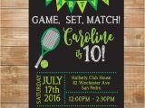 Tennis Birthday Party Invitations Tennis Birthday Party Invitation Tennis Invite Printable