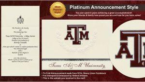 Texas A&m Graduation Invitations Texas A M University Graduation Announcements Texas A M