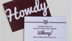 Texas A&m Graduation Party Invitations Texas A M Aggie Grad Announcement by Myownbrandofhappy On Etsy