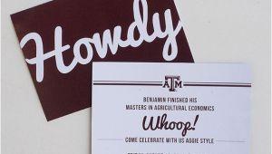 Texas A&m Graduation Party Invitations Texas A&m Aggie Grad Announcement by Myownbrandofhappy On Etsy