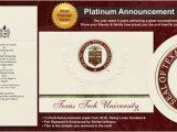 Texas Tech Graduation Invitations Texas Tech University Graduation Announcements Texas