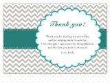 Thank You Party Invitation Template Printable Personalized Gray Chevron Thank You Card Note