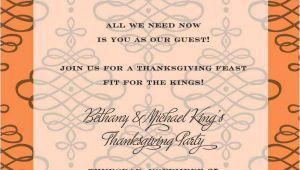 Thanksgiving Wedding Invitation Wording Thanksgiving Invitations