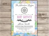 The Adventure Begins Baby Shower Invitations Adventure Begins Baby Shower Invitations Invites Girl Journey