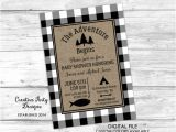 The Adventure Begins Baby Shower Invitations the Adventure Begins Baby Shower by Creativepartydesigns