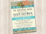 The Adventure Begins Baby Shower Invitations the Adventure Begins Shower Invitation Pure Design Graphics