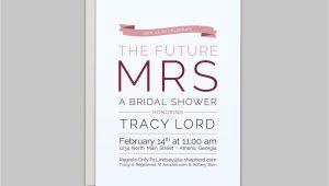 The Future Mr and Mrs Wedding Invitation the Future Mrs Wedding Shower Invitation Custom by Lashepherd