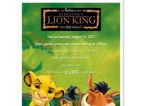 The Lion King Birthday Party Invitations 8 Lion King Personalized Birthday Party Invitations