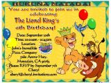 The Lion King Birthday Party Invitations Lion King Birthday Party Invitations